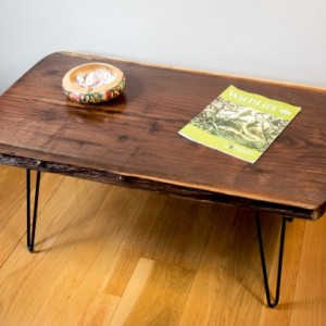 Natural Edge, Live Edge Black Walnut Coffee Table