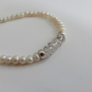 Mini Pearls & Silver Bracelet