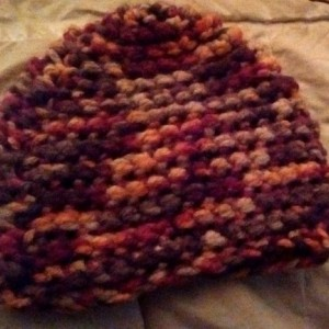 Thick, cozy crochet beanie - Autumn Brilliance