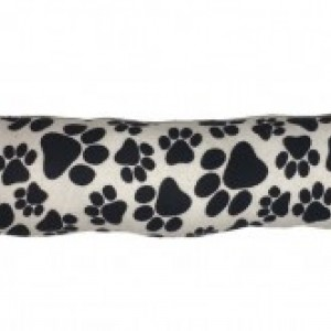 KittyKicker Black and Gray Paw Prints 11 inches Long 100% Organic USA Catnip Cat Toy