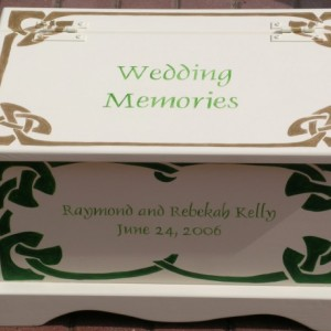 Celtic Wedding Keepsake Chest Anniversary Box personalized wedding gift