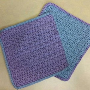 Handmade Set of two (2) Crocheted Dishcloths/Washcloths