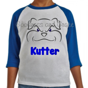 Personalized School Mascot Tee Series - Bulldog