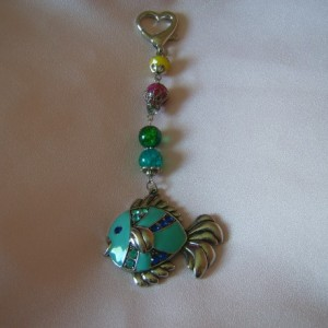 Blue Fish Handbag Charm