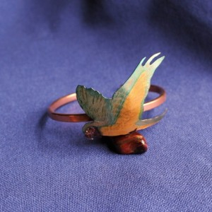 Blue and Gold Macaw Bracelet