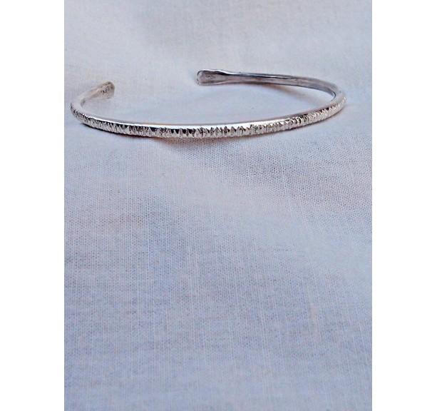 Sterling Bracelet Hashed Textured