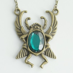 Emerald Scarab Necklace