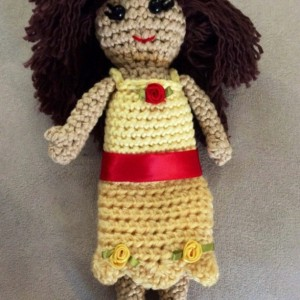 Clearance / discontinued / amigurumi / Yellow princess doll / bedtime doll
