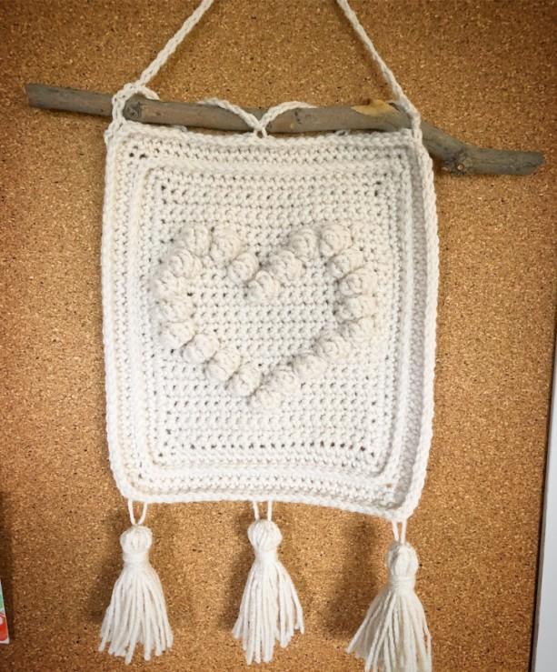 Rustic heart wallhanging, nursery wall hanging