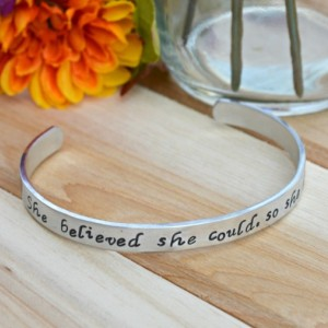 She believed she could, so she did Cuff Bracelet