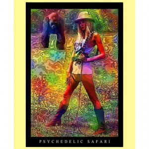 3 Trippy Handmade Keepsake Greeting Cards 5x7 Blank: PSYCHEDELIC SAFARI