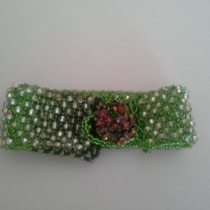 Green Cuff Peyote Bracelet