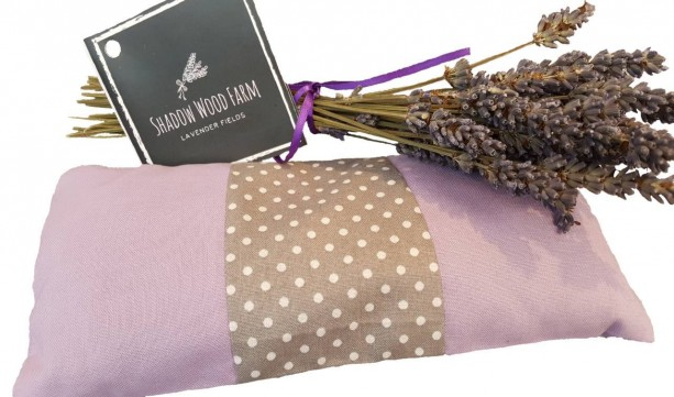 Lavender Eye Pillow- Lavender Grey Dots