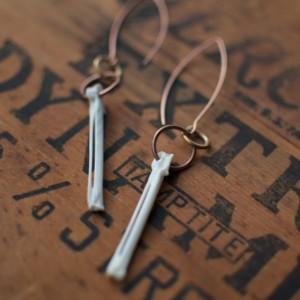 California Quail Bone Earrings, Set A
