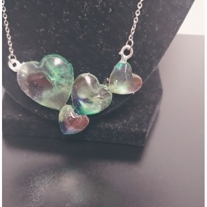 Colorful Triple Play Heart Necklace