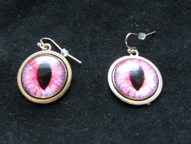 Cat eye earrings - pink