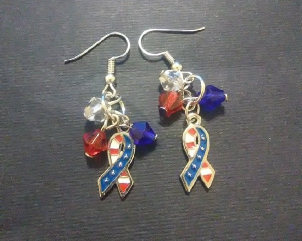Patriotic Ribbon Flag Earrings