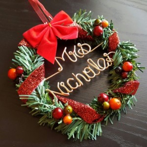 christmas personal wreath/ Teachers Christmas gift /wreath / Personalized wreath/ christmas gift /name wreath/ Best Gift item / Door hanger