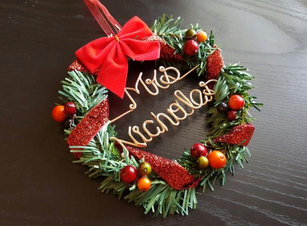 christmas personal wreath/ Teachers Christmas gift /wreath / Personalized wreath/ christmas gift /name wreath/ Best Gift item / Door hanger