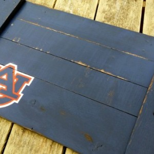 Hand Painted Handmade Auburn University Reclaimed Wooden Serving Tray War Eagle Tigers