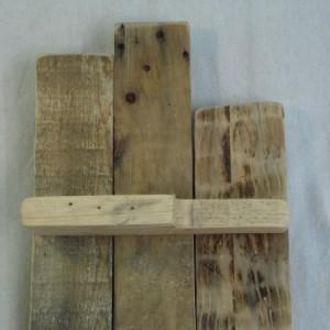 Long Pallet Wood Shelf, Rustic Pallet Shelf, Pallet Shelf, Wooden Shelf, Rustic Home Decor