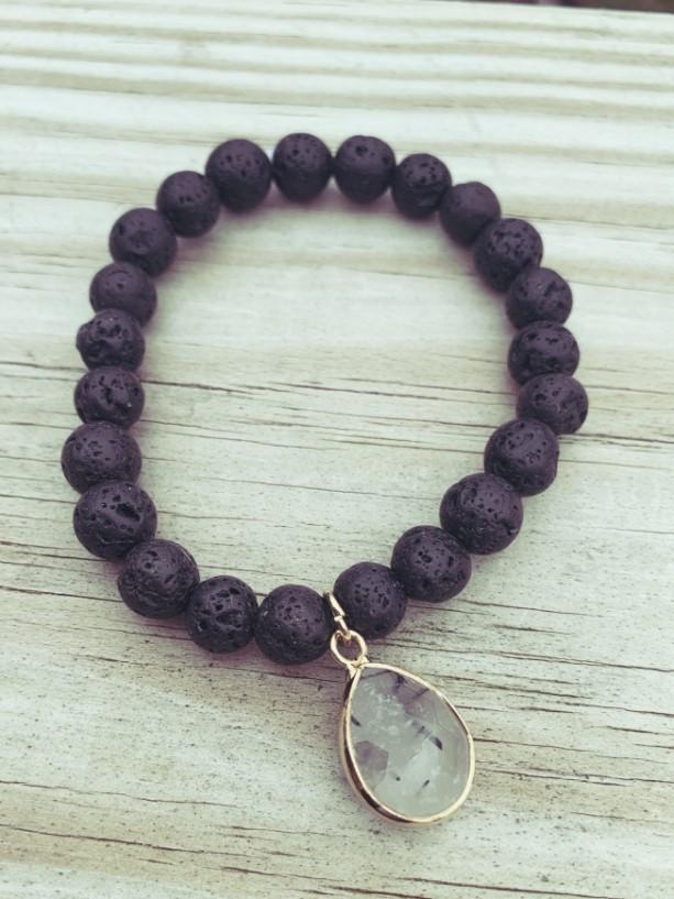 Black Pendant Bracelet