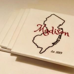 Custom Coasters-Non Stick Coasters-Madison NJ-Coasters-Personalized Coasters-Ceramic Tile Coasters-Drink/Barware-Gift Ideas-Housewarming