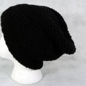 black hat - winter hat - slouchy hat - womens hat - Christmas gift - holiday gift - gift under 50 - winter slouchy hat - black slouch hat