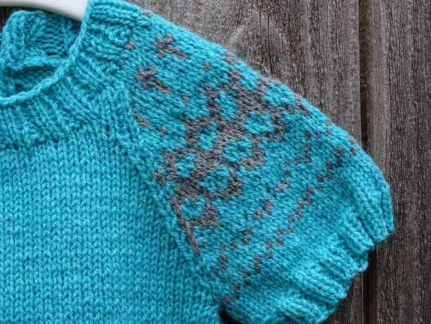 Hand Knit Blue Sweater, Size 3-4 Years, Little Girl Tunic | aftcra