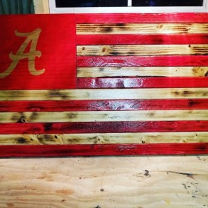 Alabama Wooden Flag