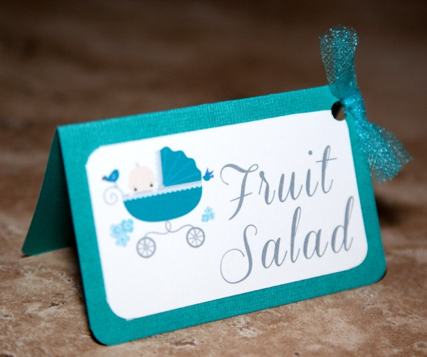 Baby Carriage Baby Shower Food Tents - Boy or Girl - (Quantity 14)