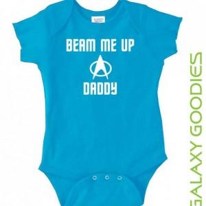 Beam Me Up Daddy - Star Trek Baby Onesie