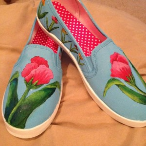 Handpainted Floral Shoes