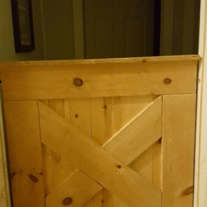 Half barn door gate