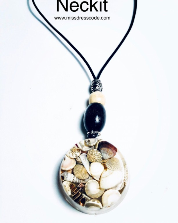 Seashells in Resin Pendant Necklace