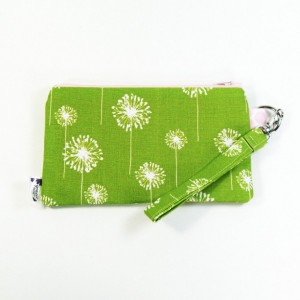 Medium Wristlet Zipper Pouch Clutch - Lime Dandi