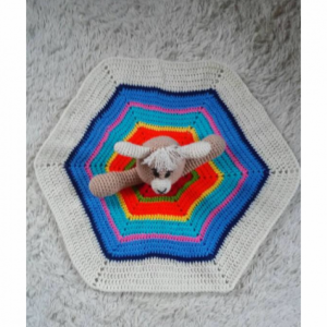 Crochet Llama Lovey, Baby Blanket, Comfort Blanket, Security Blanket, Baby Shower Gift