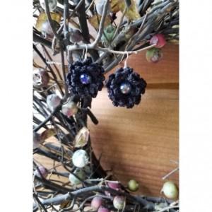 Black Crochet Drop Earrings