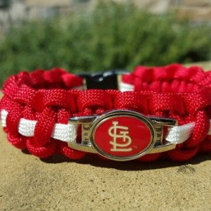 St. Louis Cardinals Paracord Bracelet MLB Officially Licensed Charm