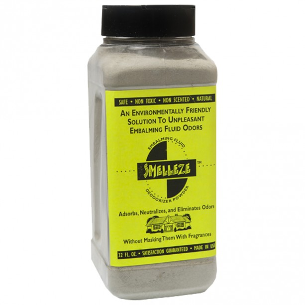 SMELLEZE Eco Embalming Fluid Odor Eliminator: 50 lb. Powder Removes Harmful Formalin Stink