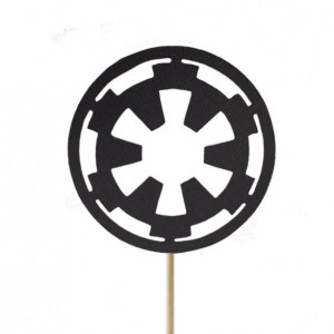 Galactic Empire Imperial Crest Cupcake Toppers - Set of 12