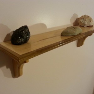 Shelf made of maple and poplar