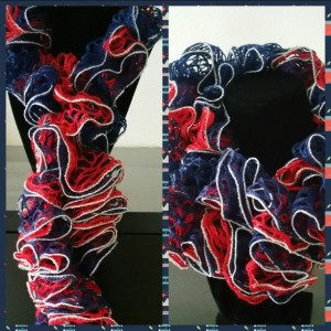 Patriotic Ruffled Scarf