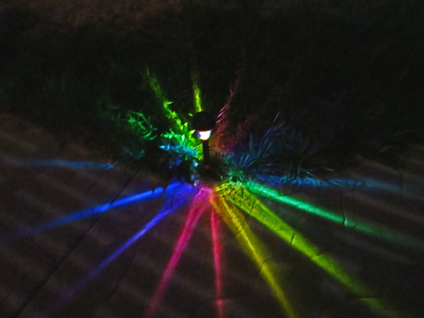 Hand-Painted Solar LED Rainbow Path Lights