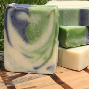 2 bars of Lavender Essential Oil and Honey Cold Process Soap