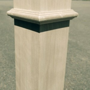 Solid wood staircase post newel post for stair RED OAK