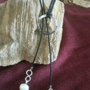 Infinity cord necklace