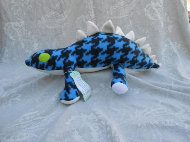 Large Blue and Black Stegosaurs Dinosaurs