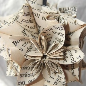 Lord of the Rings Small Origami Ornament Upcycled, LOTR Ornament, Christmas Tree Ornament, Geeky Christmas, LOTR Decor, FanPull, Geeky Decor