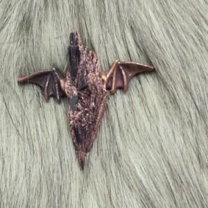 Black Kyanite Electroformed Copper Bat Wing Pendant